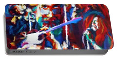 Portable Battery Charger featuring the photograph The Gang In Oils by Kelly Awad