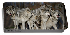 Portable Battery Charger featuring the photograph The Gang by Wolves Only