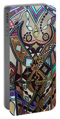 Portable Battery Charger featuring the painting The Gardener by Barbara St Jean