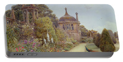 The Gardens At Montacute In Somerset Portable Battery Charger by Ernest Arthur Rowe