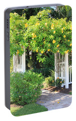 Portable Battery Charger featuring the photograph The Gate by Rosalie Scanlon