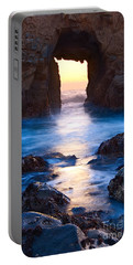 The Gateway - Sunset On Arch Rock In Pfeiffer Beach Big Sur In California. Portable Battery Charger