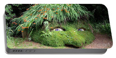 The Giant's Head Heligan Cornwall Portable Battery Charger by Richard Brookes