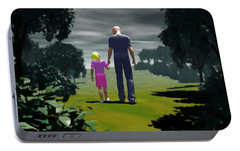 Portable Battery Charger featuring the digital art The Gift Of Being 'daddy' by John Alexander
