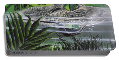 Portable Battery Charger featuring the painting The Glades by Dianna Lewis