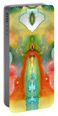 The Goddess - Abstract Art By Sharon Cummings Portable Battery Charger