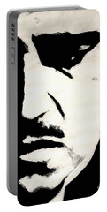 Portable Battery Charger featuring the painting The Godfather by Dale Loos Jr