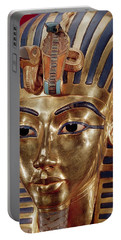 The Gold Mask, From The Treasure Of Tutankhamun C.1370-52 Bc C.1340 Bc Gold Inlaid Portable Battery Charger