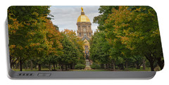 The Golden Dome Of Notre Dame Portable Battery Charger by John M Bailey