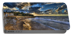 the golden hour during sunset at Israel Portable Battery Charger