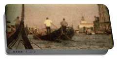 Portable Battery Charger featuring the photograph The Gondoliers by Micki Findlay