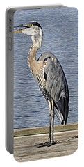 The Great Blue Heron Photo Portable Battery Charger by Verana Stark