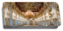 The Great Gallery Showing The Rococo Decorative Scheme Of Gilded Ornamental Framework And White Portable Battery Charger