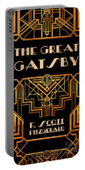 The Great Gatsby Book Cover Movie Poster Art 3 Portable Battery Charger