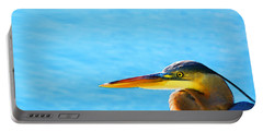 The Great One - Blue Heron By Sharon Cummings Portable Battery Charger by Sharon Cummings
