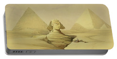 The Great Sphinx And The Pyramids Of Giza Portable Battery Charger by David Roberts