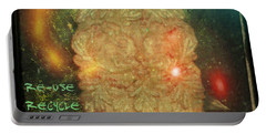 The Green Man - Recycle Portable Battery Charger by Absinthe Art By Michelle LeAnn Scott