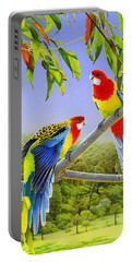 The Happy Couple - Eastern Rosellas  Portable Battery Charger
