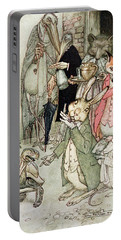 The Hare And The Tortoise, Illustration From Aesops Fables, Published By Heinemann, 1912 Colour Portable Battery Charger