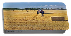 Portable Battery Charger featuring the photograph The Harvest by Keith Armstrong