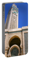 The Hassan II Mosque Grand Mosque With The Worlds Tallest 210m Minaret Sour Jdid Casablanca Morocco Portable Battery Charger
