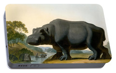 The Hippopotamus, 1804 Portable Battery Charger by Samuel Daniell