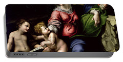 The Holy Family Of The Oak Tree, Circa 1518 Portable Battery Charger