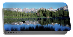 The Indian Peaks Reflected In Red Rock Portable Battery Charger