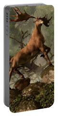 The Irish Elk Portable Battery Charger by Daniel Eskridge