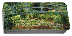 The Japanese Footbridge And The Water Lily Pool Giverny Portable Battery Charger by Claude Monet
