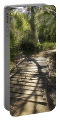 Portable Battery Charger featuring the photograph The Journey Along The Path Comes With Light And Shadows by Lucinda Walter