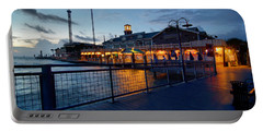 The Kemah Boardwalk Portable Battery Charger by Linda Unger