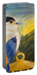 Portable Battery Charger featuring the painting The Key by Maria Langgle