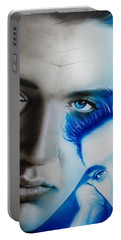 Elvis Presley - ' The King ' Portable Battery Charger by Christian Chapman Art