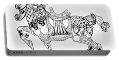The King's Horse - Zentangle Portable Battery Charger