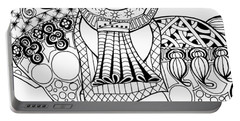 The King's Horse - Zentangle Portable Battery Charger by Jani Freimann