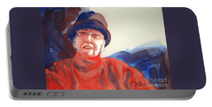The Lady In Red Portable Battery Charger by Kathy Braud