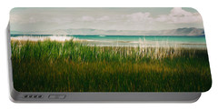 The Lake - Digital Oil Portable Battery Charger by Mary Machare