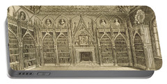 The Library, Engraved By Godfrey Portable Battery Charger