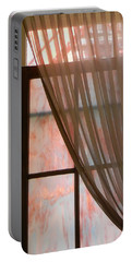 The Light Through The Window Portable Battery Charger by Jean Goodwin Brooks
