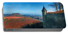The Lilienstein Behind The Fortress Koenigstein Portable Battery Charger