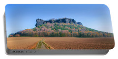 The Lilienstein On An Autumn Morning Portable Battery Charger