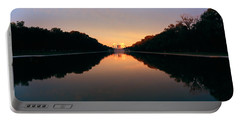The Lincoln Memorial At Sunset Portable Battery Charger