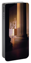 The Lincoln Memorial In The Morning Portable Battery Charger