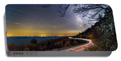 The Linn Cove Viaduct Milky Way Light Trails Portable Battery Charger