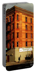 Portable Battery Charger featuring the photograph Iglesia - The Little Church On The Corner - New York City Street Scene by Miriam Danar