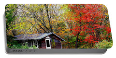 Portable Battery Charger featuring the photograph The Little Country Cottage by Dora Sofia Caputo Photographic Art and Design