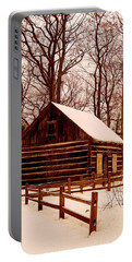 The Log Cabin At Old Mission Point Portable Battery Charger