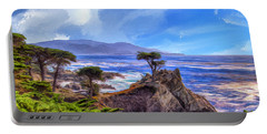 The Lone Cypress Portable Battery Charger by Dominic Piperata