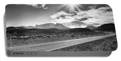 Portable Battery Charger featuring the photograph The Lonely Road by Howard Salmon